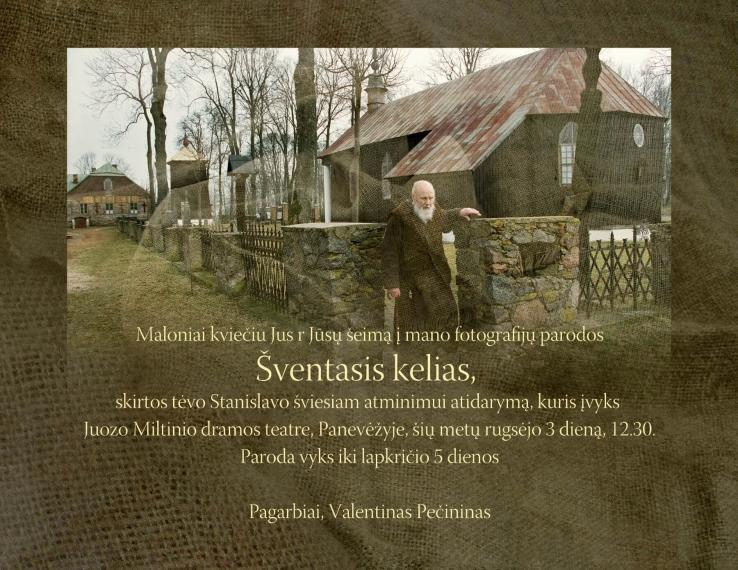 """Valentino Pečinino fotografijų parodos """"Šventasis kelias"""" atidarymas"""